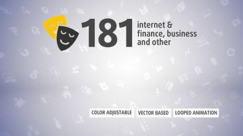Videohive - 181 Animated Icons