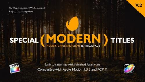 Videohive - Special Modern Titles Pack for FCPX