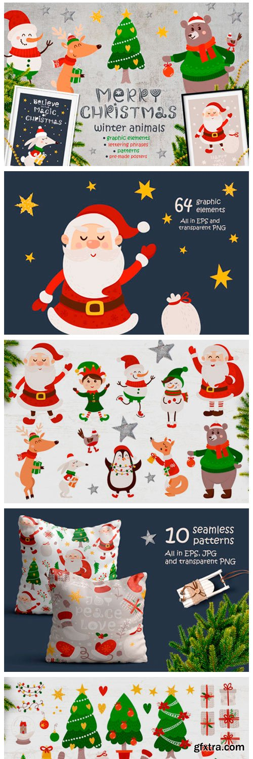 Merry Christmas - Winter Animals 2264648