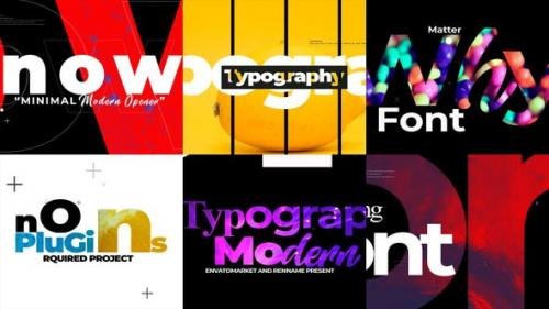 Videohive - Minimal Typograpy Opener