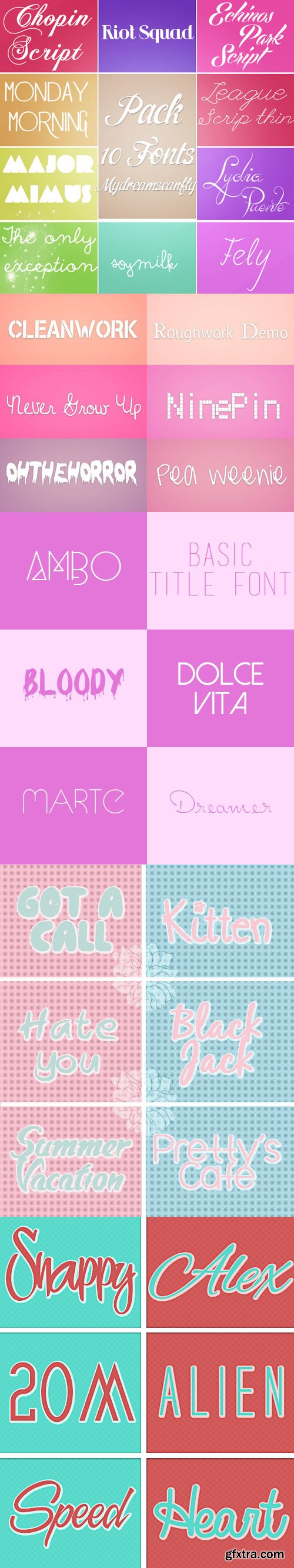 116 Awesome Fonts Collection