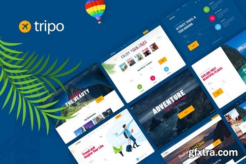 Tripo - PSD Template For Travel & Tourism Agencies
