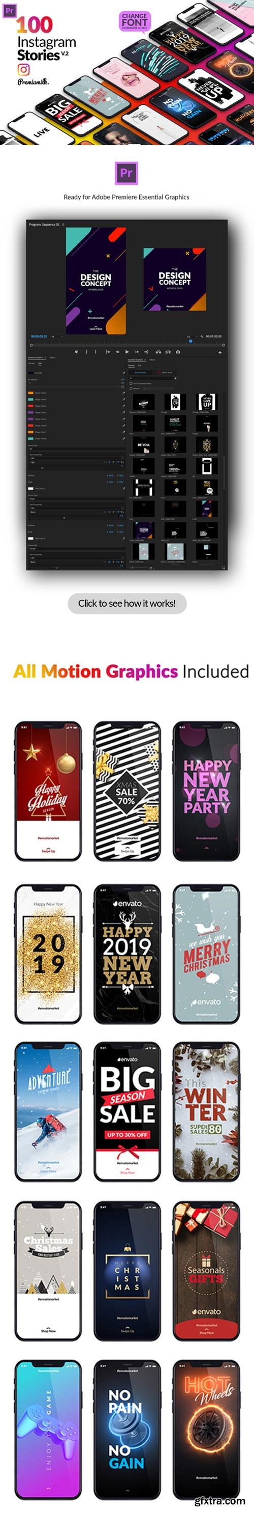 Videohive - Instagram Stories Package Essential Graphics | Mogrt V2 - 22961692