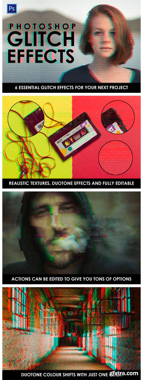 Glitch Effect Photoshop Actions 2296830