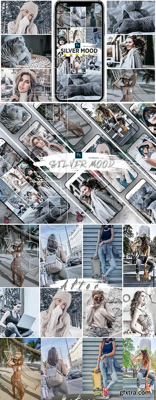 GraphicRiver - Silver Mood Photoshop Actions 25147155
