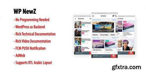 CodeCanyon - WP NewZ v2.2 - WordPress to Android News App - 22517696