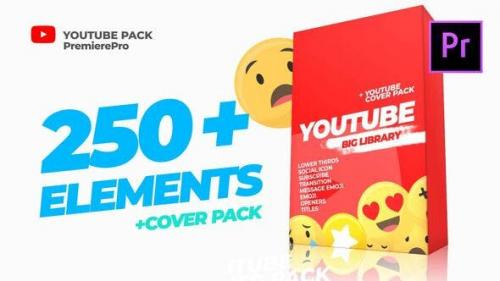 Videohive - Youtube Library and Сover pack Mogrt