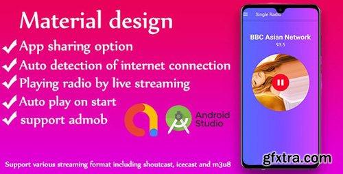 CodeCanyon - Single Radio android Radio app v1.0 + admob - 24925515