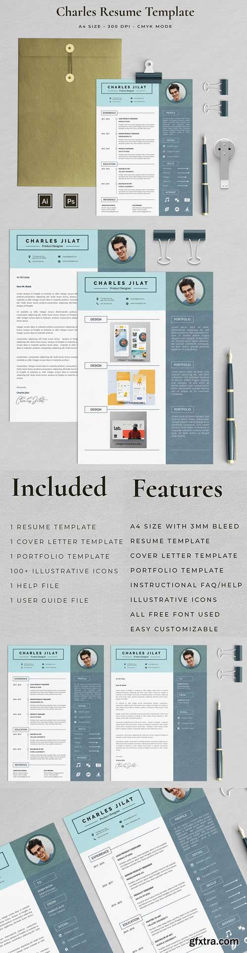 Charles Resume Vector Template