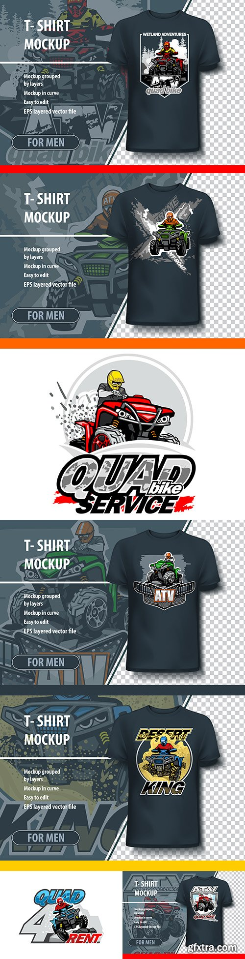 Mock-up 3d men\'s T-shirt with drawing design