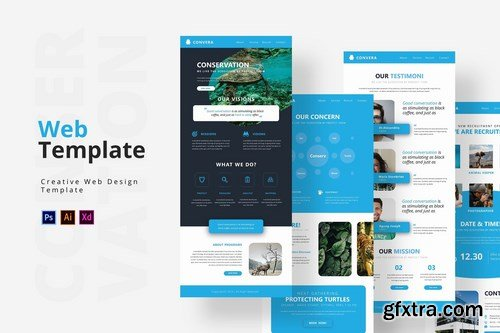 Conservation Web Template