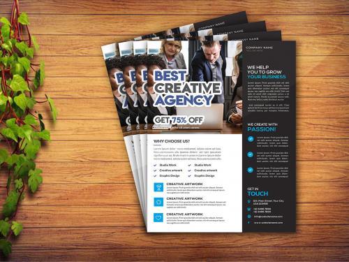 Corporate business flyer template design Psd - corporate-business-flyer-template-design-premium-psd