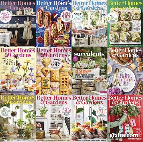 Better Homes and Gardens USA - 2019 Full Year Issues Collection