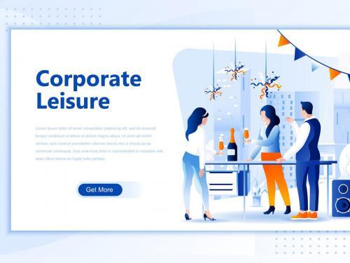 Corporate Leisure Flat Landing Page Header - corporate-leisure-flat-landing-page-header