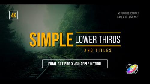 Videohive - Simple Lower Thirds and Titles FCPX