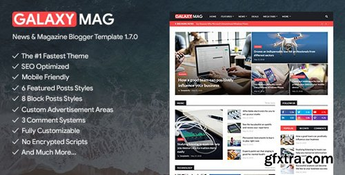 ThemeForest - GalaxyMag v1.7.0 - Responsive News & Magazine Blogger Template - 23640657
