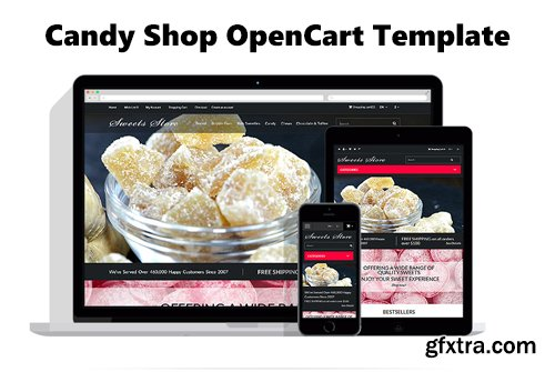 Candy Shop OpenCart Template - TM 53553
