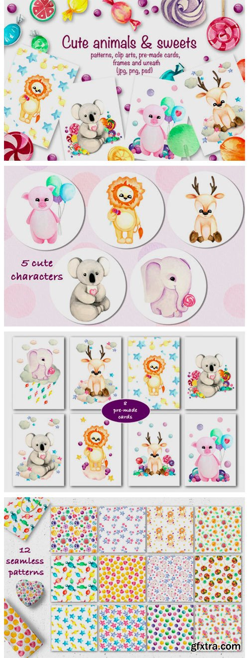 Cute Animals & Sweets Collection 2323290