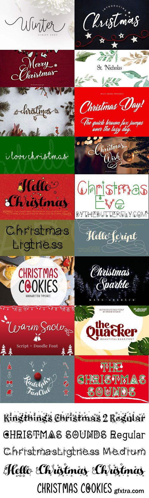 26 Holiday Fonts Collection
