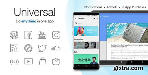 CodeCanyon - Universal v4.4 - Full Multi-Purpose Android App - 6512720