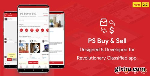 CodeCanyon - PS BuySell ( Olx, Mercari, Offerup, Carousell, Buy Sell ) Clone Classified App v2.1 - 24220109