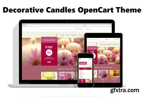 Decorative Candles OpenCart Theme - TM 54024