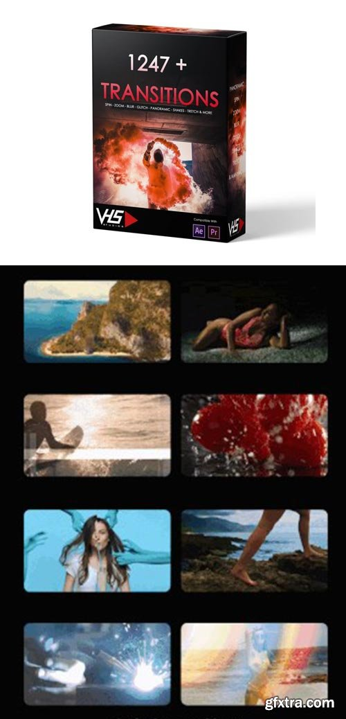 VHS Studio - VHS 1247+ Transitions Package