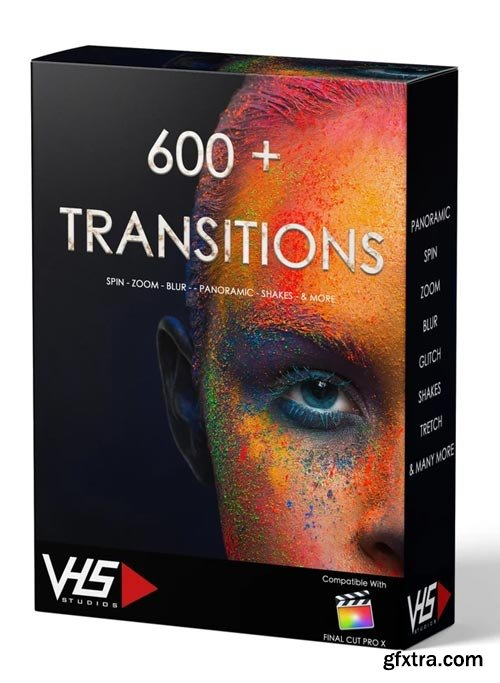 VHS Studio - VHS 600+ Final Cut Transitions