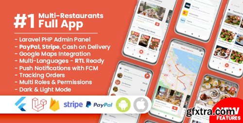 CodeCanyon - Food Delivery Flutter + PHP Laravel Admin Panel v1.4.0 - 24878940