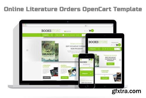 Online Literature Orders OpenCart Template - TM 54657