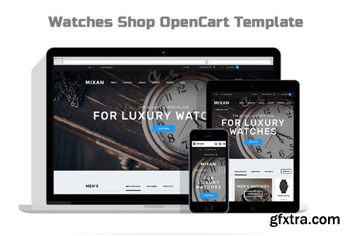 Watches Shop OpenCart Template - TM 57928
