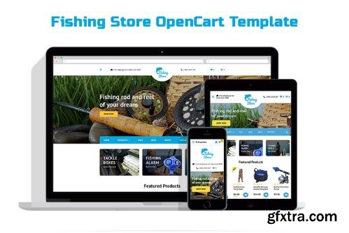 Fishing Store OpenCart Template - TM 58127
