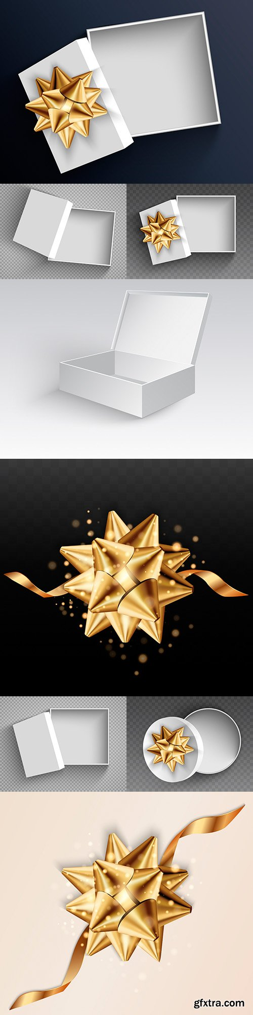 Gift box and decorative bow 3d illustration