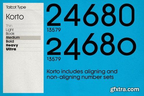 Korto Font Family