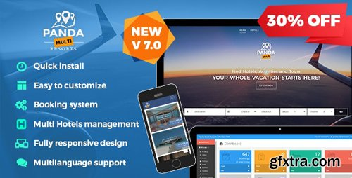 CodeCanyon - Panda Multi Resorts 7.2.0 - Booking CMS for Multi Hotels - 14084137