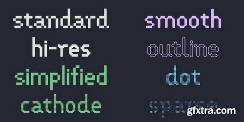 VP Pixel Font Family
