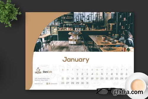 2020 Cafe - Coffee Calendar Desk Pro