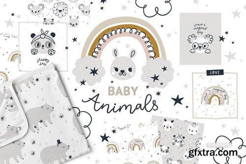 CM - Bundle Baby animal Clipart & Pattern - 4272886