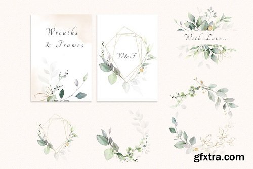 CM - Watercolor & Gold Leaves Collection - 3349153