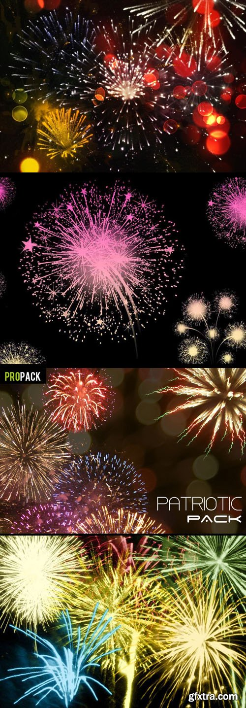 Awesome 100 New Year Fireworks Brushes for Photoshop