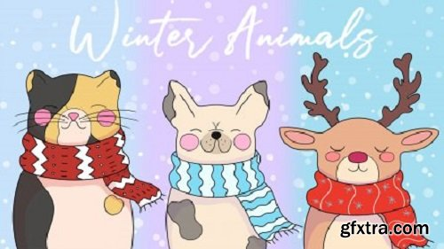 Drawing Winter Animals in Adobe Photoshop
