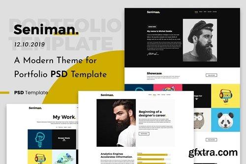 Seniman | Modern Portfolio PSD Template Demo 3