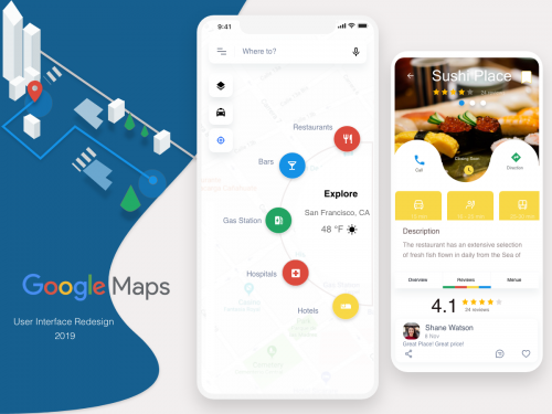 Google Maps Redesign Challenge