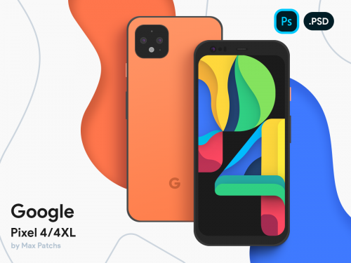 Google Pixel 4/4XL Vector Mockup