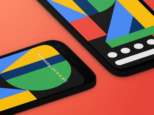 Google Pixel 4 device frame