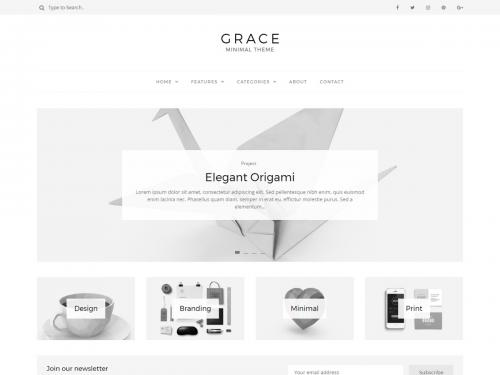 Grace Minimal WordPress Blog
