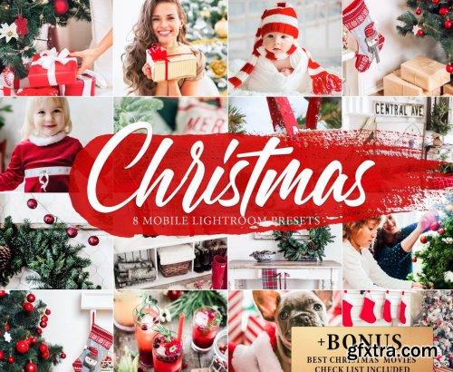 CreativeMarket - 8 CHRISTMAS Lightroom Mobile Presets 4268676
