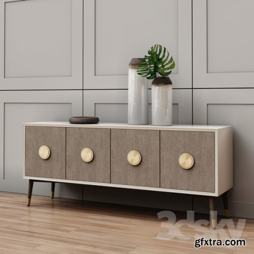 Darling Lacquer Console 3d model