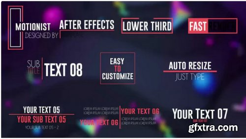Minimal Lower Thirds V2.0 - After Effects 313140