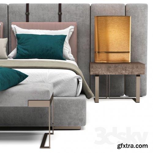 Fendi halston bed 3d model